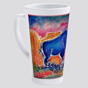 Buffalo, colorful, art! 17 oz Latte Mug